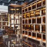 中国フォーシャンの工場現代デザイン金カラー304ステンレス鋼の家具の陳列だなのカスタマイズされたキャビネット