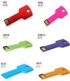 Freier Firmenzeichen-Metalschlüssel geformter USB-Speicher-grelle Platte