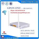 4ge+2pots+WiFi+l'unité de la passerelle d'accueil USB FTTH Modem Gpon ONU Ont.