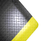 Esteira Anti-Fatigue preta e amarela para a sala de limpeza industrial