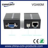 RJ45 영상 증량제 Cat5e/6 이더네트 변환기 (VGA60M)에 60m VGA
