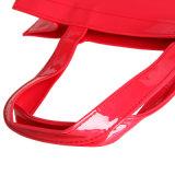 Rode Waterdichte pvc suikergoed-Gekleurde Handtas (23135)