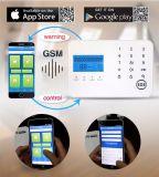 Obbligazione senza fili dell'allarme della casa della sirena dello stroboscopio con il GSM e la linea telefonica funzione