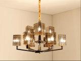 Hotel-rauchiges Grau-dekorative Glaslampe