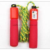 Justierbares Baumwolseil-überspringendes Seil Belüftung-Sprung-Seil mit Kostenzähler