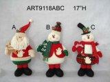 """14 """" H restant Santa et bonhomme de neige, 3 cadeaux de décoration d'Asst-Noël"""