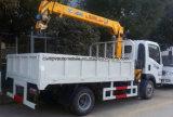 6 Roues 4 tonnes mini monté sur camion avec 2 tonnes camion-grue