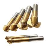 6PCS 3 플루트 티타늄 Caoted HSS 구멍 파는 송곳 드릴용 날 세트