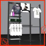 Des vêtements modernes rail rack statif avec deux étagères de rangement