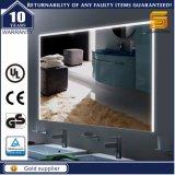 Miroir éclairé à contre-jour fait sur commande moderne de salle de bains de miroir de vanité d'hôtel