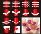 Французский стикер ногтя стикеров искусствоа ногтя переноса воды