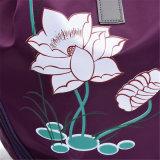 Sac à dos en nylon d'impression de lotus de sac d'épaule de tissu du type 2017 neuf (GB#1622 MF)