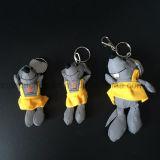 Gelb kleidete Ratte-/Mäuseplüsch angefülltes reflektierendes Sicherheits-Spielzeug