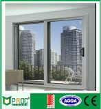 Usine de Shanghai Hot vendeur Double porte coulissante en aluminium en verre trempé (PNOC-100A)
