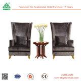 Personalizado Modern Hotel Restaurant Sala de estar Mobiliário cadeira de lazer de madeira