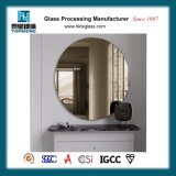 アメリカの熱い販売の浴室の供給のための簡単な設計されていた装飾的なFramless円形の壁に取り付けられた銀製ミラー