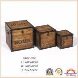 가정 가구 자연적인 색깔을%s 가진 나무로 되는 선물 상자