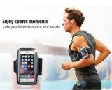 Wasserdichter PU-lederner Kasten-laufende Sport-Armbinde für Samsung für iPhone 6 laufendes Sport-Telefon-Arm-Band mit Gummiband