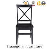 Amerikanische Art-Schwarz-Gaststätte-Möbel-festes Holz, das Stuhl (HD464, speist)