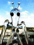 Vente en gros mini petite conduite d'eau en verre d'art de 6 pouces