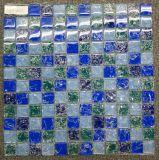 Mattonelle di vetro della stanza da bagno di disegno del mosaico di Tiffany, mattonelle di mosaico del raggruppamento