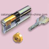 Cilindro normal europeo de la cerradura de cilindro del perfil