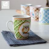 Pieno possedere la tazza di caffè di ceramica della decalcomania/tazza bianca del corpo