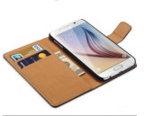 Cas 2016 en cuir de luxe accessoire de couverture de téléphone portable de cas de téléphone portable pour le bord de la galaxie S6/S6 de Samsung