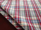 De rode Stof van de Keperstof van de Popeline van de Controle voor Overhemd (013)