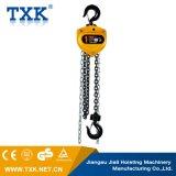 Txk a fixé l'élévateur manuel de bloc à chaînes de treuil avec un crochet de suspension