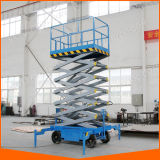 유압 전기 자동차는 공중 작업 플래트홈을 가위로 자른다
