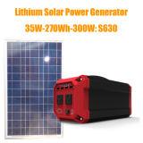 da central eléctrica solar portátil solar do gerador da fora-Grade 300W bateria de lítio interna