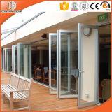 Дверь складчатости термально пролома верхнего качества алюминиевая, стеклянная дверь складчатости для лидирующей виллы, дверь двойной застеклять стеклянная