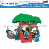 Campo da giuoco di plastica esterno della trasparenza dei giocattoli dei capretti piani del modello (M11-09710)