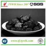 石炭をベースとする粒状の押しつぶされた作動した木炭
