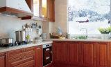 Античная мебель кухни твердой древесины Brown (zq-026)