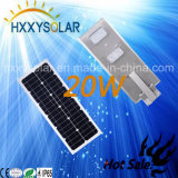 20W LED integrado Street de la luz solar