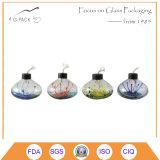 Pintado calabaza de botella de la forma de la lámpara de aceite de cristal