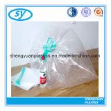 Le PE a personnalisé les sacs d'ordures en plastique estampés de cordon sur le roulis
