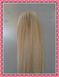 Qualité de la meilleure qualité à la mode Clip-dans la couleur de blonde de Remy Silky18inches d'extensions de cheveu