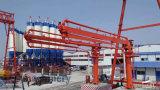 Giacimento detritico di distribuzione concreto della gru a torre con le braccia staccabili di 19m