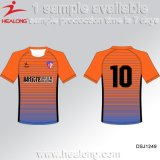 Healong 100% Polyester sublimé Strip uniforme de soccer