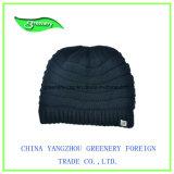 Chapeau gris de Knit de l'hiver de broderie de mode promotionnelle