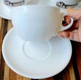 Tazza di ceramica bianca del caffè espresso della tazza del Cappuccino della tazza del piattino della tazza di tè del caffè di uso del ristorante