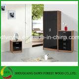 중국 제조자 현대 가정 가구 검정 높은 광택 침실 세트