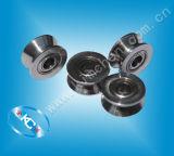 ステンレス製ワイヤーローラー(ステンレス鋼プーリー)のステンレス鋼ベアリング、ステンレス製ワイヤーガイドの車輪
