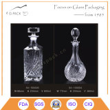 Hochwertige Glaslikör-Flasche mit Glaskorken-Dichtung