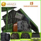 Acompte de 50 % Double déchiqueteuse de l'arbre pour le recyclage des pneus de 800 mm