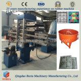 加硫装置のゴム製タイルの煉瓦成形機をリサイクルするスクラップのタイヤ