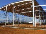 プレハブの大きく長いスパンの鋼鉄屋根構造の倉庫の建築構造